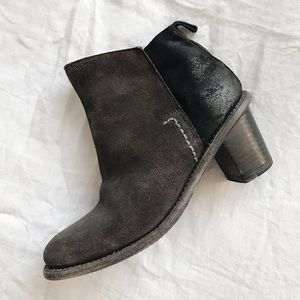 Holding Horses Suede Block Heel Ankle Boots
